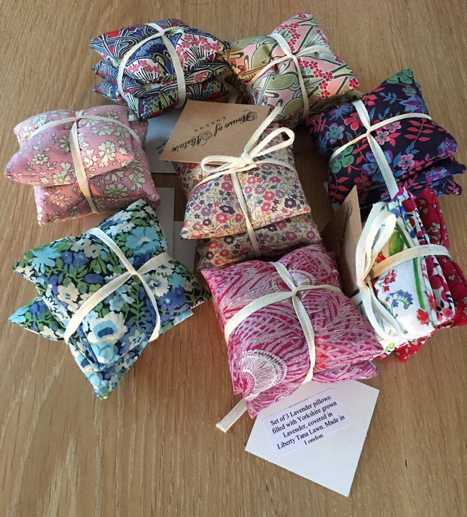 Liberty fabric - 3 Lavender sachet set