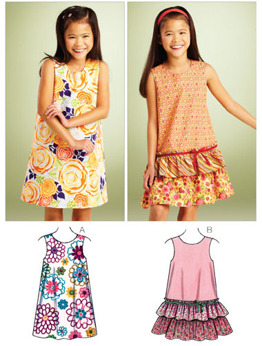 Kwik Sew 3862 - Girls' A-line Dresses