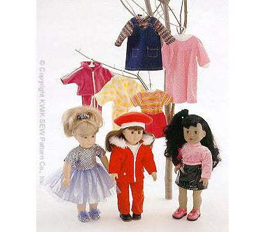 "Kwik Sew 2830 - Crafts: Doll clothing -fits 18"" (45 cm) dolls"