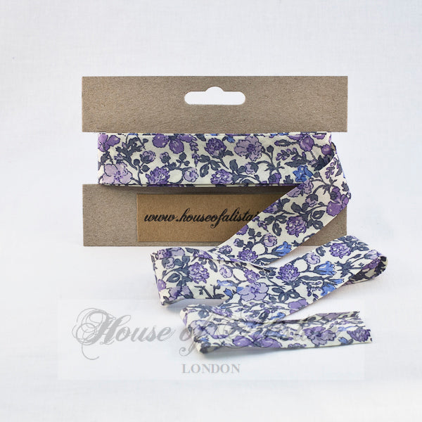 Liberty print Bias Binding - 25mm - by metre - Meadow Lilac