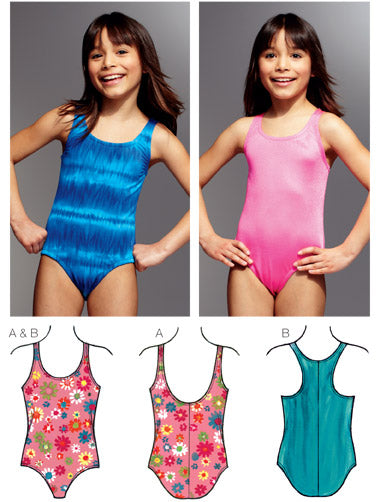 Kwik Sew 3785 - Girls' Swimsuits