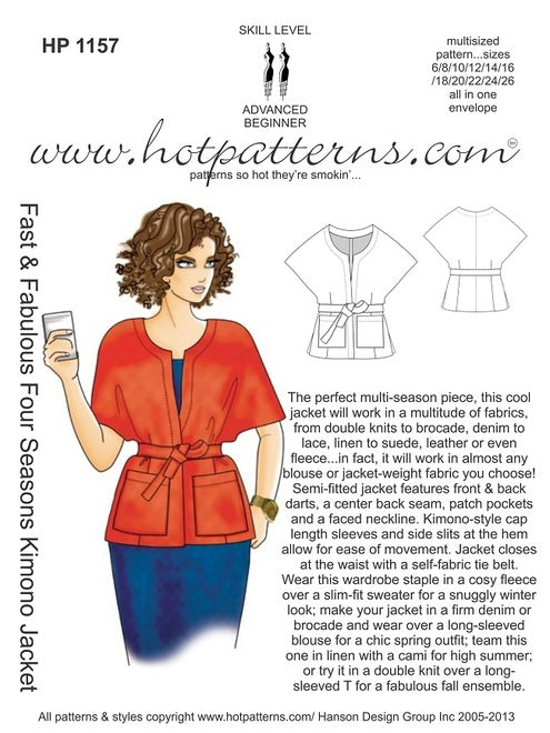 Hot Patterns 1157 - Fast & Fabulous Four Seasons Kimono Jacket
