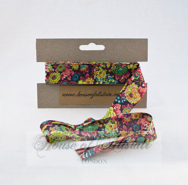 Liberty print Bias Binding - 25mm - by metre - Elysian Multi