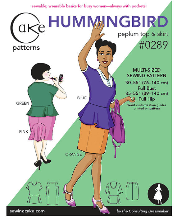 Cake - Hummingbird Peplum Top and Skirt