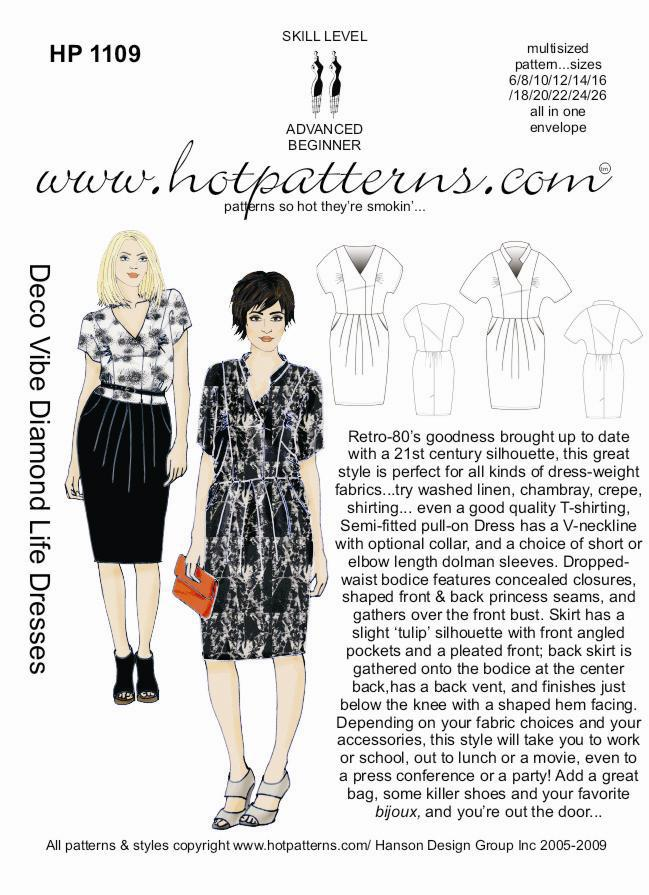 Hot Patterns 1109 - Deco Vibe Diamond Life Dresses