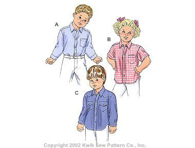 Kwik Sew 3146 - Toddlers' Shirts