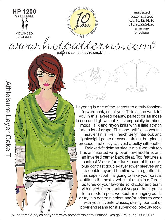 Hot Patterns 1200- Athleisure Layer Cake T