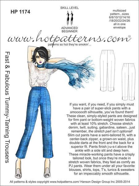 Hot Patterns 1174 - Fast & Fabulous Tummy-Taming Trousers