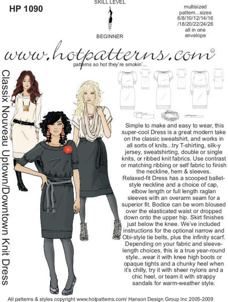 Hot Patterns 1090 - Classix Nouveau Uptown Downtown Knit Dress