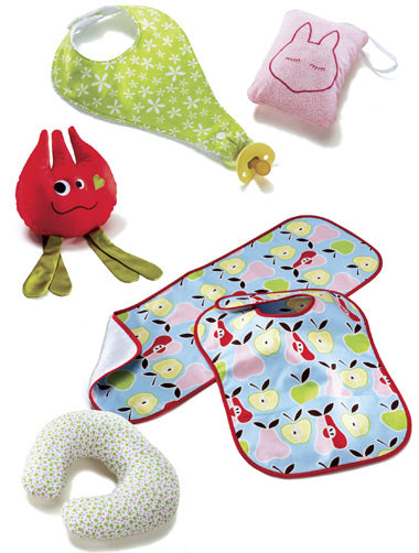 Kwik Sew 3812 - Babies' Bibs, Burp Cloth, Pillows & Toy