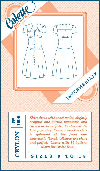 Colette Patterns Ceylon Dress - 1009 - Pattern Cover