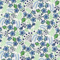 Liberty Kingly Cord Fabric - LKC03277153B - Sarah's Secret Garden - Blue