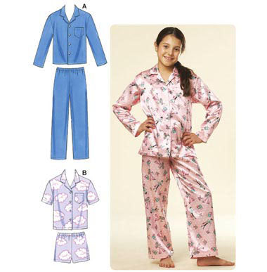 Kwik Sew 3604 -  Boys' and Girls' Pajamas