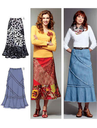Kwik Sew 3789 - Misses' Patchy Skirts