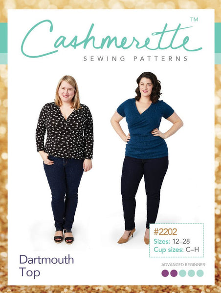 Cashmerette Dartmouth Top - 2202 - NEW - UK Size 16-32