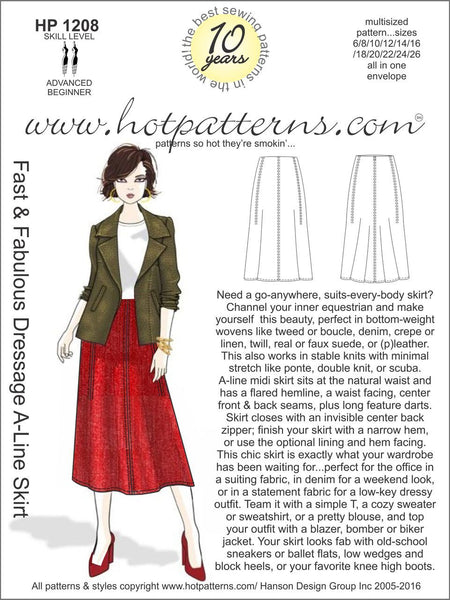 Hot Patterns 1208- Fast & Fabulous Dressage A-Line Skirt
