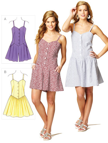 Kwik Sew 3874 - Misses' Romper & Dress