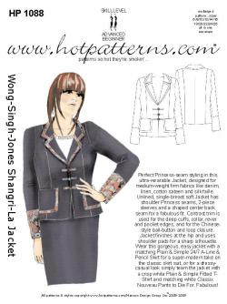 Hot Patterns 1088 - Wong-Singh-Jones Shangri-la Jacket