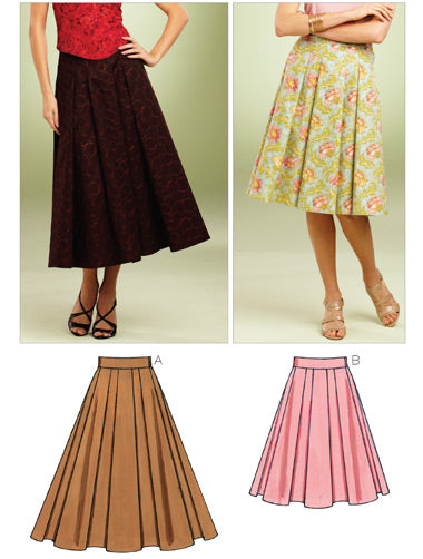 Kwik Sew 3852 - Misses' Full Skirts