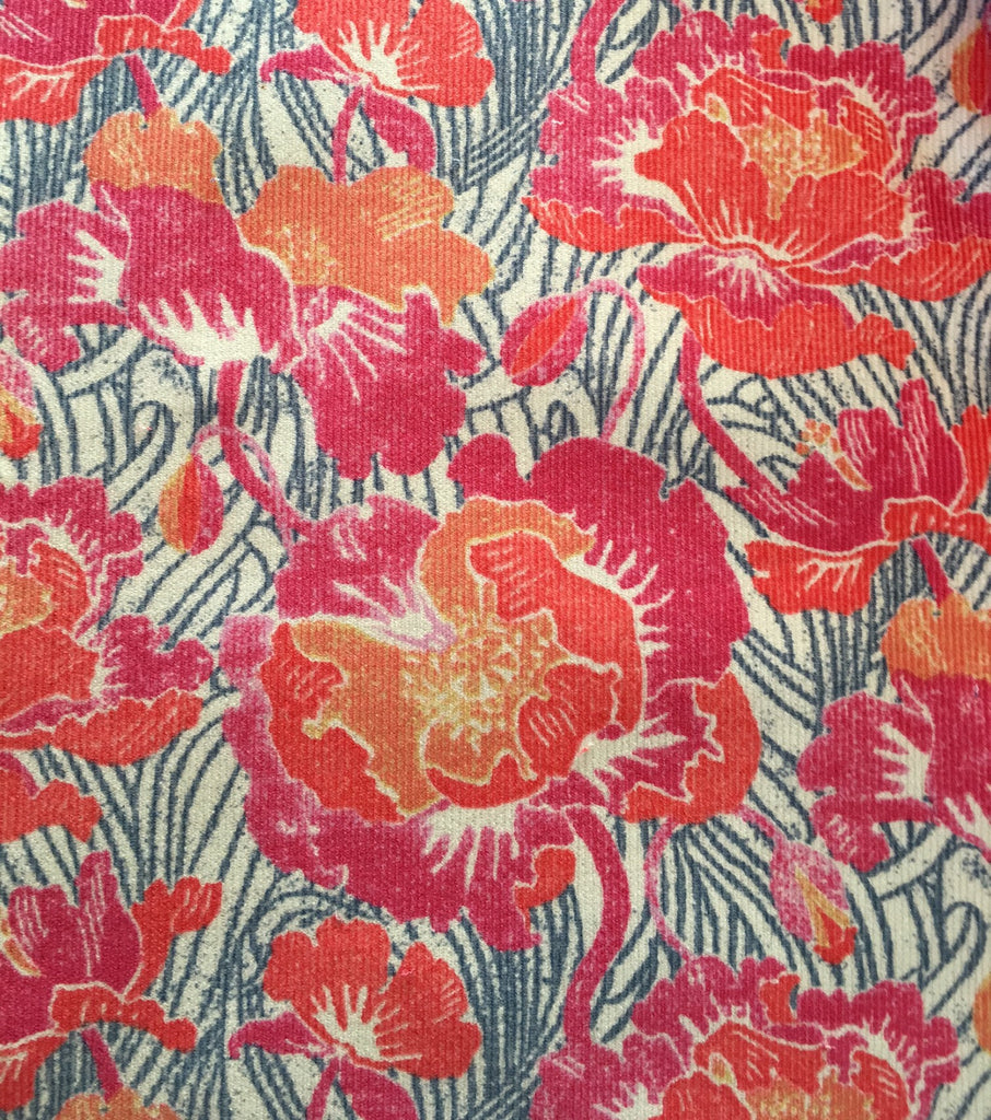 Liberty Rossmore Cord Fabric - Spring Poppy - LRC03542253A