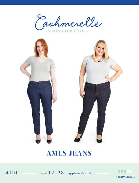 Cashmerette Ames Jeans - UK Sizes 16 - 32