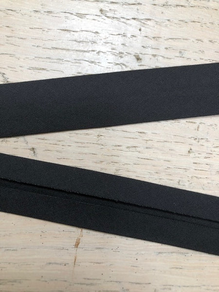 Bias Binding - 25mm - by metre - Black