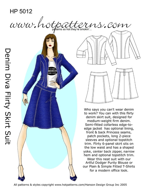 Hot Patterns 100 - Denim Diva Flirty Skirt Suit (Special Edition)