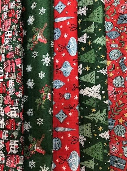 Liberty 'A Festive Collection' -   5 x Fat Quarter Pack 1