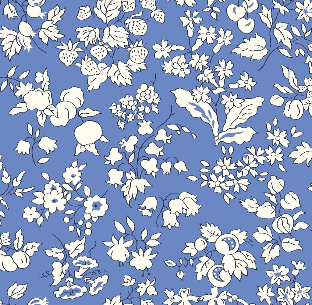 Liberty - Orchard Garden Collection - Fruit Silhouette X (blue)