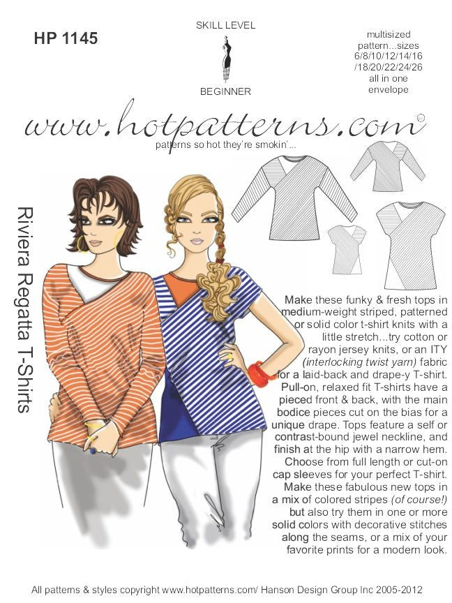 Hot Patterns 1145- Riviera Regatta T-shirts