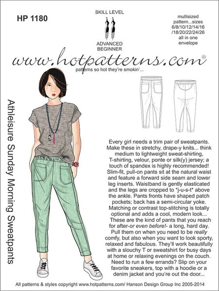 Hot Patterns 1180 - Athleisure Sunday Morning Sweatpants