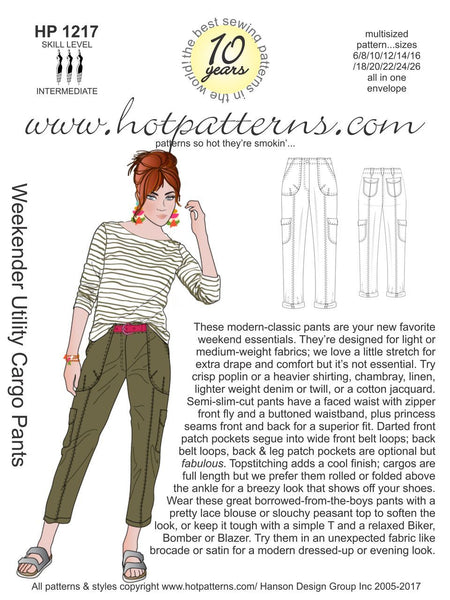 Hot Patterns 1217 - Weekender Utility Cargo Pants