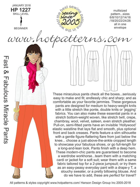 Hot Patterns 1227 - Fast & Fabulous Miracle Pants