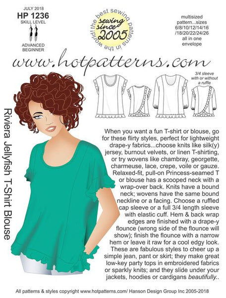 Hot Patterns 1236 - Riviera Jellyfish T-shirt blouse