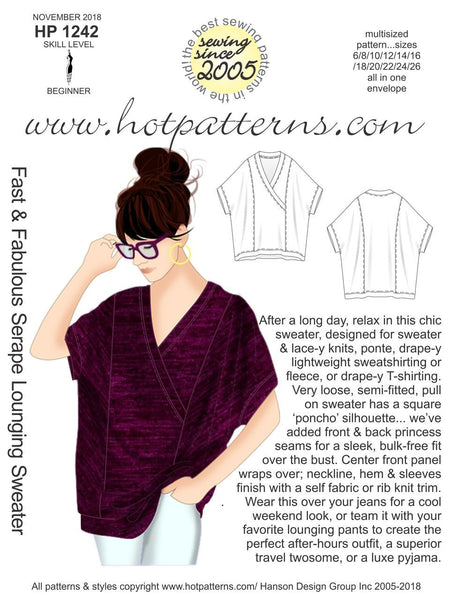 Hot Patterns 1242 - Fast & Fabulous Serape Lounging Sweater