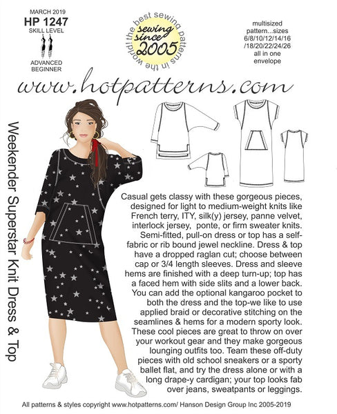 Hot Patterns 1247 - Weekender Superstar Dress