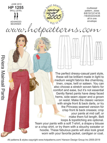 Hot Patterns 1255 - Riviera Mainsail Pants