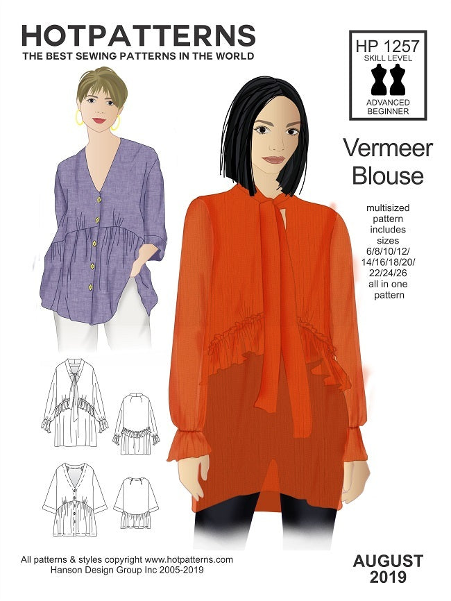 Hot Patterns  1257 - Vermeer Blouse