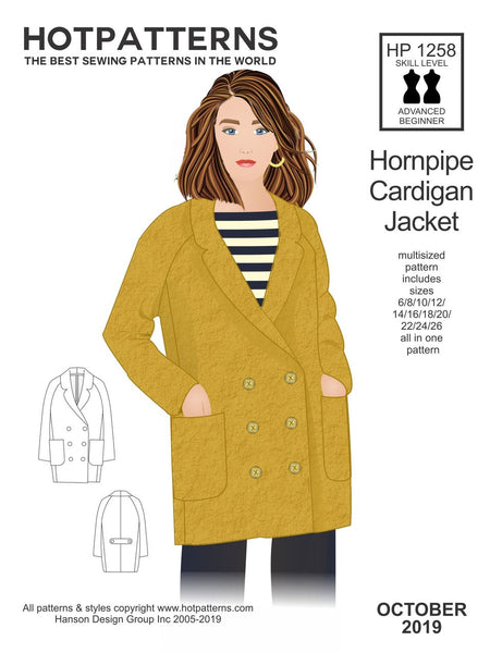Hot Patterns  1258 - Hornpipe Cardigan Jacket