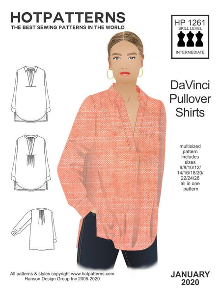 Hot Patterns  1263 - Da Vinci Pullover Shirts