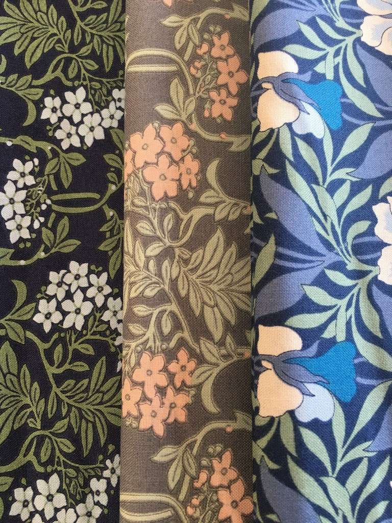 Liberty Hesketh House Collection  3 x Fat Quarter Pack Blues