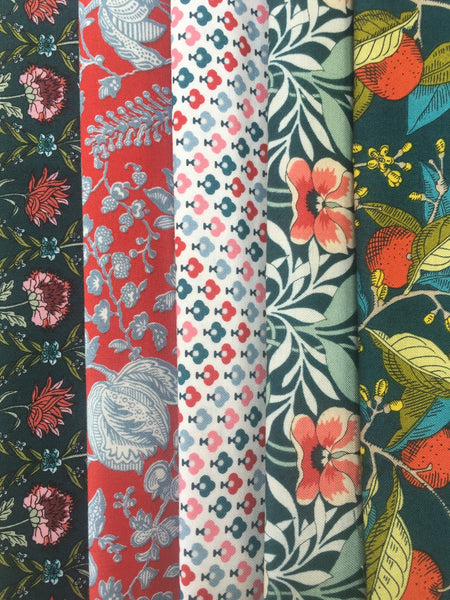 Liberty Hesketh/Summer House Collection  5 x Fat Quarter Pack 2