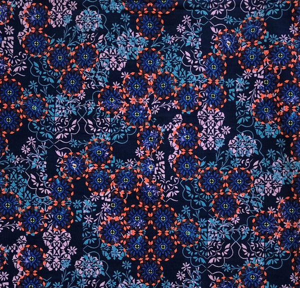 Liberty Rossmore Cord Fabric -  LRC03546254B - Floral Filigree (Blue)