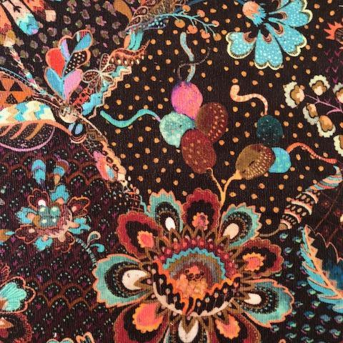 Liberty Rossmore Cord Fabric -  LRC03540000A - Grand Bazaar (turquoise)