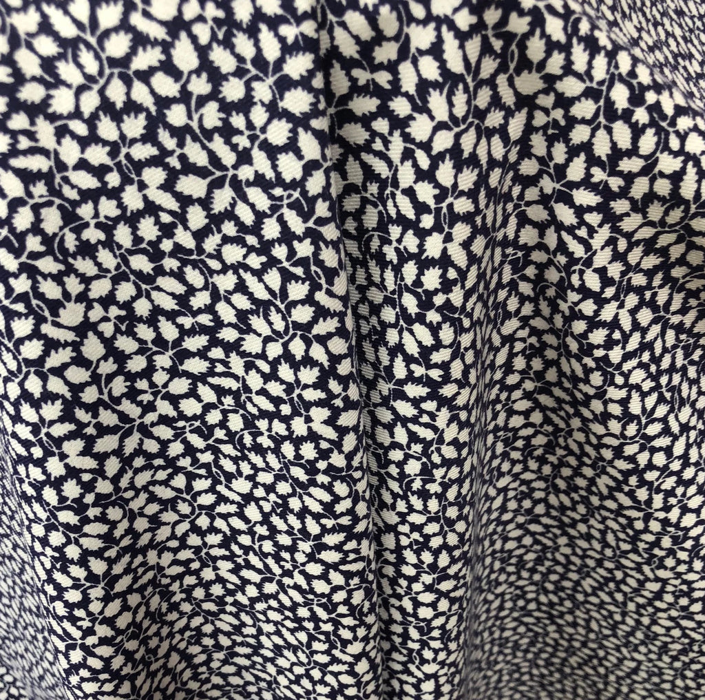 Liberty Brushed Cotton Fabric - BC03845256- Glenjade (Navy) NEW