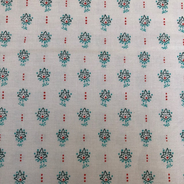 Liberty - Winterbourne Collection - Millefleur Tulip C - Teal
