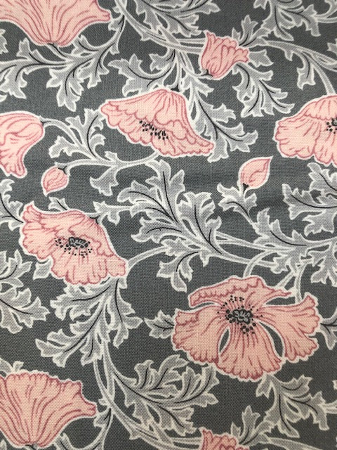 Liberty - Winterbourne Collection - Beatrice Poppy B - Grey
