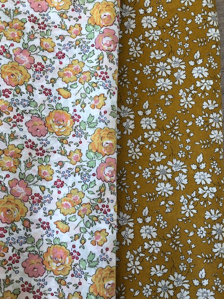 Liberty Tana Lawn - 'Mustard Mix' 2 pack