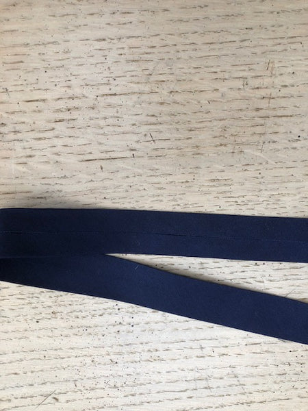 Bias Binding - 25mm - by metre - Plain Navy