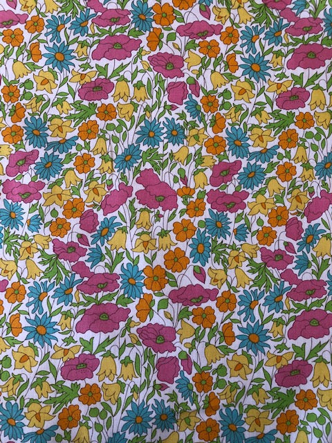 Liberty Tana Lawn - LTL03634095 - Poppy and Daisy - summer